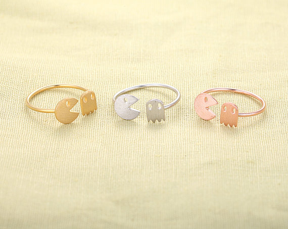 Animal and Ghost Ring - adjustable rings,stretch rings,cute ring,fun rings