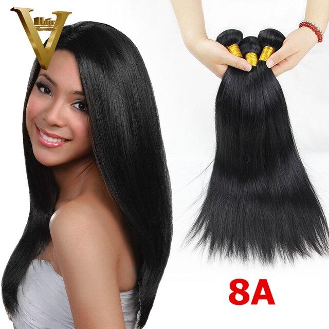 8A Unprocessed Peruvian Hair 100%Human Hair Weave 3pcs Lot Peruvian Straight Hair Extensions Peruvian Virgin Hair Straight