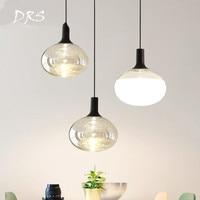 Nordic Restaurant Chandelier Simple Creative Luminaria Danish Designer Lamp Bedroom Bar Dining Room Single Head Glass Lights