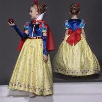 High Quality Kids Princess Sofia Dress For Baby Girls Snow White Cosplay Costume Children Christmas