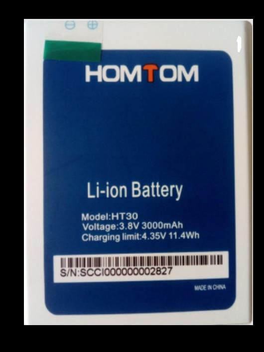 100% New Original homtom ht30 Battery 3000 mAh for HOMTOM HT30 Smart Phone