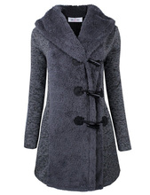New Women Autumn Winter Casual Elegant Basic Coat Trench woolen Hooded Blend loose patchwork Long Full Sleeve coat Plus Size