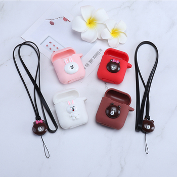 DIY Silicone Case for Apple Airpods Accessories Airpod Protective Case Anti-lost Strap Bluetooth Earphones Case Decoration Cover