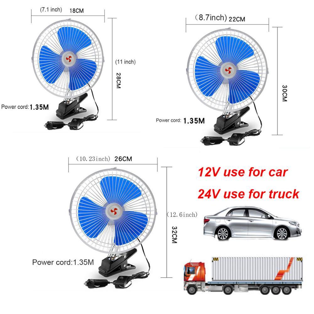 Clip On Fan 2 Speed Office Car Hydroponics Cooling Fan Oscillating UK Plug12V24V