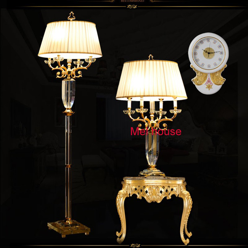 Luxury Crystal Floor Lamp For Living Room Decorative Lamps Standing Led Light Bedroom In From Lights