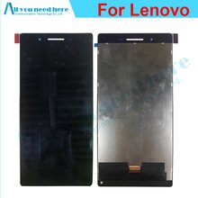 цены на 100% Tested LCD Display+Touch Digitizer Screen glass Assembly For Lenovo 7304L for Lenovo Tab 3 7304L  Replacement  в интернет-магазинах