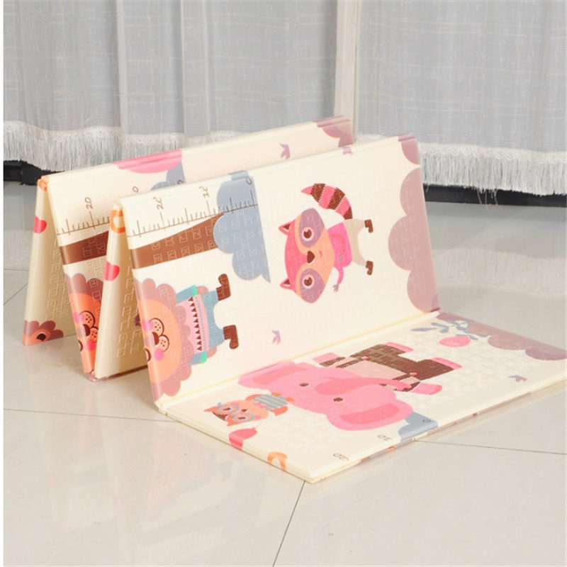 XPE Folding Toy Crawling Mat 1.5*2.0M Foam Two-Sided Pattern Baby Climbing Mat ChildrenThickening Game Pad Living Room Home Mat
