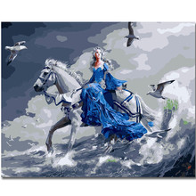 WEEN DIY Painting By Numbers Kit,Animal Paint On Canvas, Coloring Numbers, Calligraphy 40x50cm-Beauty and horse