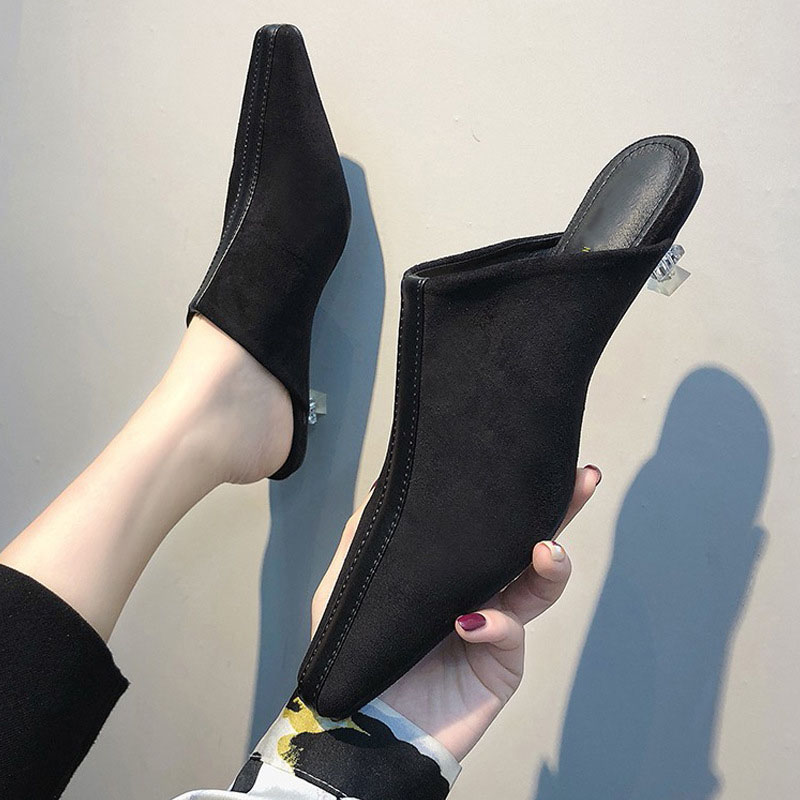 Muller Shoes Women Half Slippers Lazy luxury shoes women designers mules shoes women Flops casual Shoes beach outdoor female