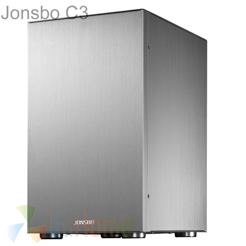 Jonsbo C3S C3 Silver HTPC Mini ITX case of the computer all aluminum, USB3.0 supprt ATX Power, Others C2 V4