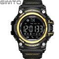 Gimto relógio do esporte dos homens digital bluetooth smart watch relógio de pulso à prova d' água câmera remota smartwatch para android/ios telefone inteligente