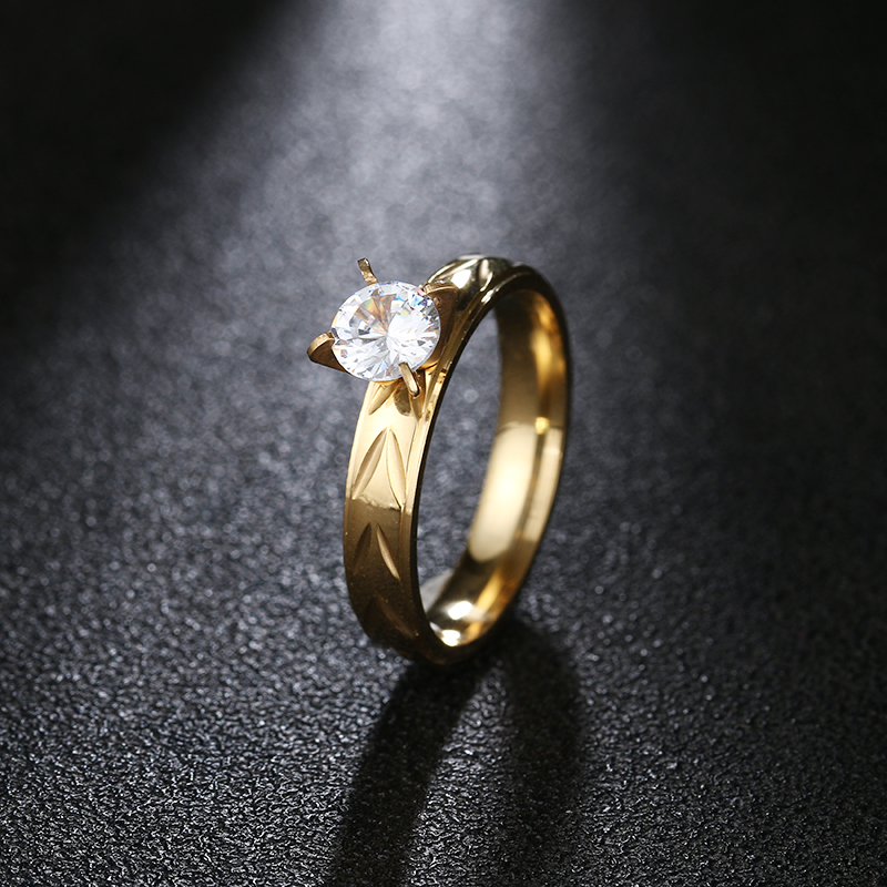 Aggressiv Dotifi 316l Edelstahl Ringe Für Frauen Charge Blumen Zirkon Engagement Hochzeit Ring Schmuck