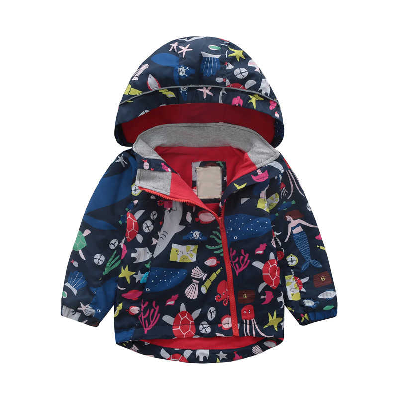 어린이 유아 소년 소녀 만화 자 켓 봄가 windproof 아기 캐주얼 의상 어린이 아우터 및 코트 패션 자 켓