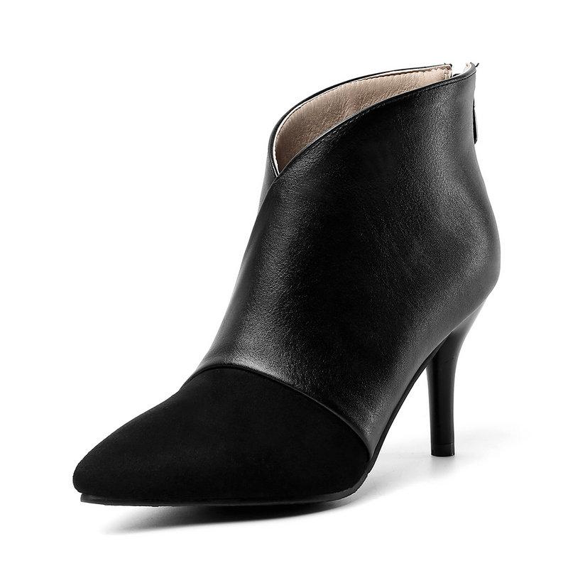 ladies bombas ankle boots com zíper para as mulheres tamanho 33-46