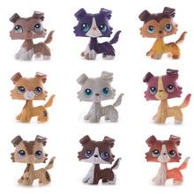 Juguete Original de la tienda de mascotas de Lps envío gratis colección de Collie acortaair Gran Dane vieja colección de juguetes para regalo de niños
