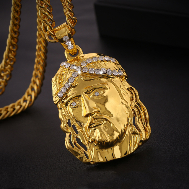 True religious men christ holy son jesus head pendant necklace 18k true religious men christ holy son jesus head pendant necklace 18k gold jesus face pendant christian aloadofball Choice Image