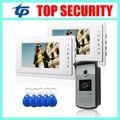 Хорошее качество смарт-карты RFID двери контроля доступа считыватель 7 7-дюймовый цветной видео домофон дверной звонок система проводной видео interom