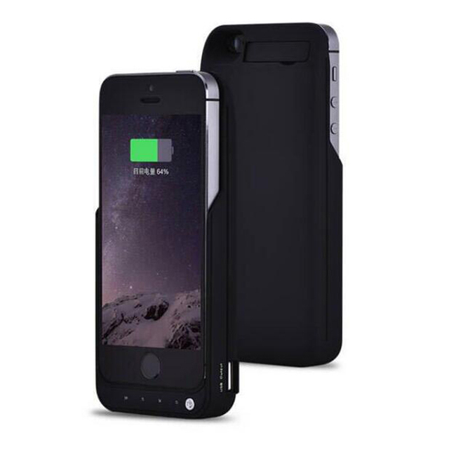 best website f5e13 507c4 US $13.16 26% OFF|4200mAh Portable Backup External Battery Charger Case  with USB Port Power Bank Charging Case Cover For iPhone 5 5C 5S SE-in  Battery ...