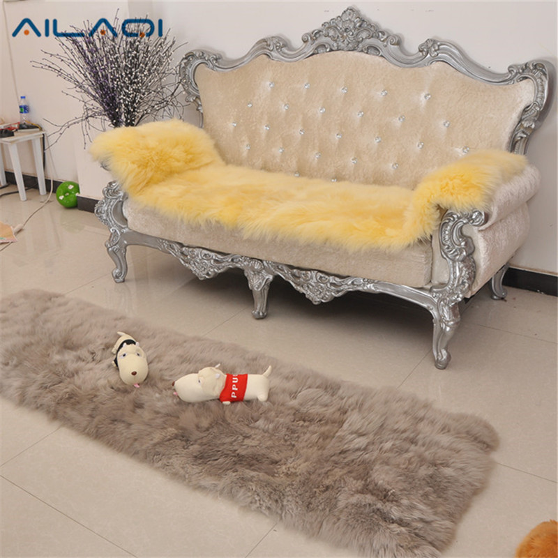 Pure Leather Sofa Sets: AILAQI Australian Pure Wool Sofa Cover Leather Sofa Sets
