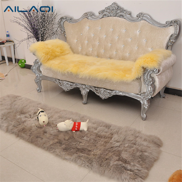 AILAQI Australian Pure Wool Sofa Cover Leather Sets Non Slip Chair Mat Car Seat
