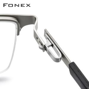 Image 4 - Legierung Gläser Rahmen Männer Ultraleicht Halben Platz Myopie Brillen 2019 Heißer Silikon Optische Rahmen Schraubenlose Brillen