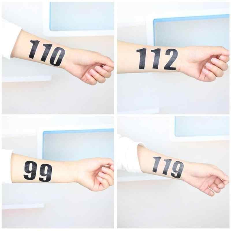 1 pz Impermeabile Sticker Art Corpo Del Tatuaggio Bella Dinosauro Numero di 0 a 9 Farfalla Falso Tatuaggi Temporanei Sticker Auto Decalcomanie decor