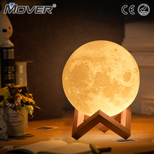 Drop shipping Christmas Moon Lamp 2 Color Change Touch Switch Bedroom Bookcase Night Light Home Decor Creative Gift