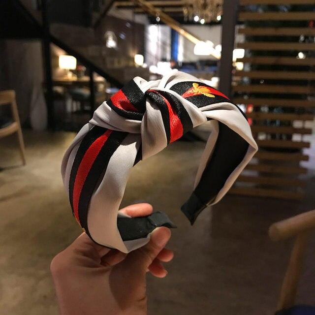 Korea Style Hair Accessories Tartan Design Headband Girl Hair Bands 4