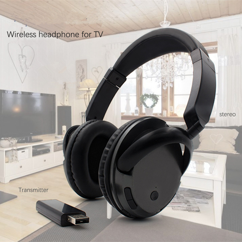 New TV Wireless Headphone Home theater headset with Microphone Computer TV PC Pad Phone MP3 music headphones Support radio fm