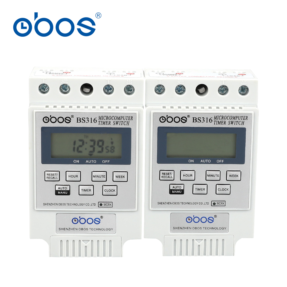 free shipping power outages memory 25A 220v weekly programmable timer switch 220V with10 times on/off time set range 1min-16H