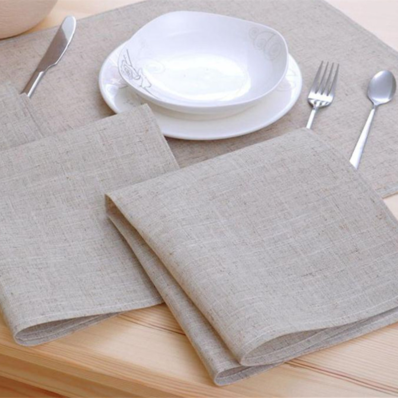 8pcs Cloth Table Napkin Linen Hotel Napkin Western Dinner Serviette Home Vintage Napkin Tea Towels Coffee Towel Table Decoration