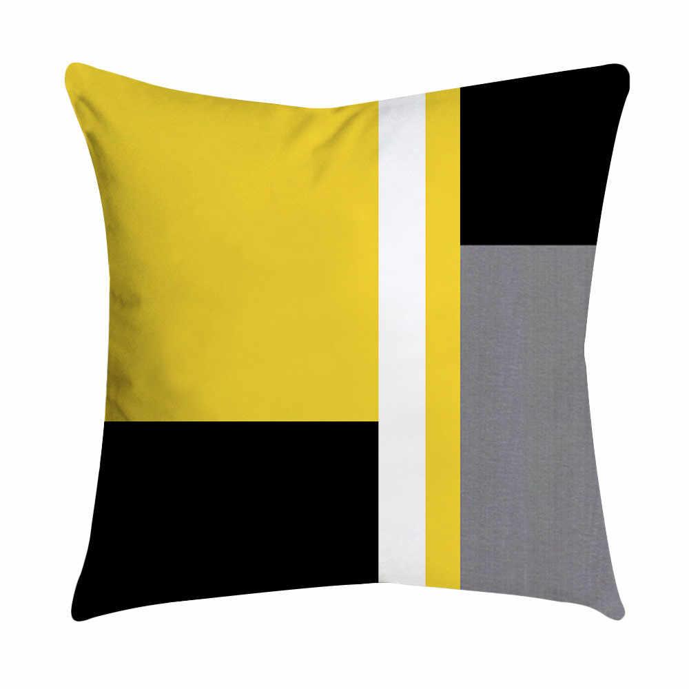 Fronhas Folha de Abacaxi Amarelo Lance Fronha Sofá Carro Cintura Lance Fronha Capa de Almofada Home Decor Kussenhoes Cojine