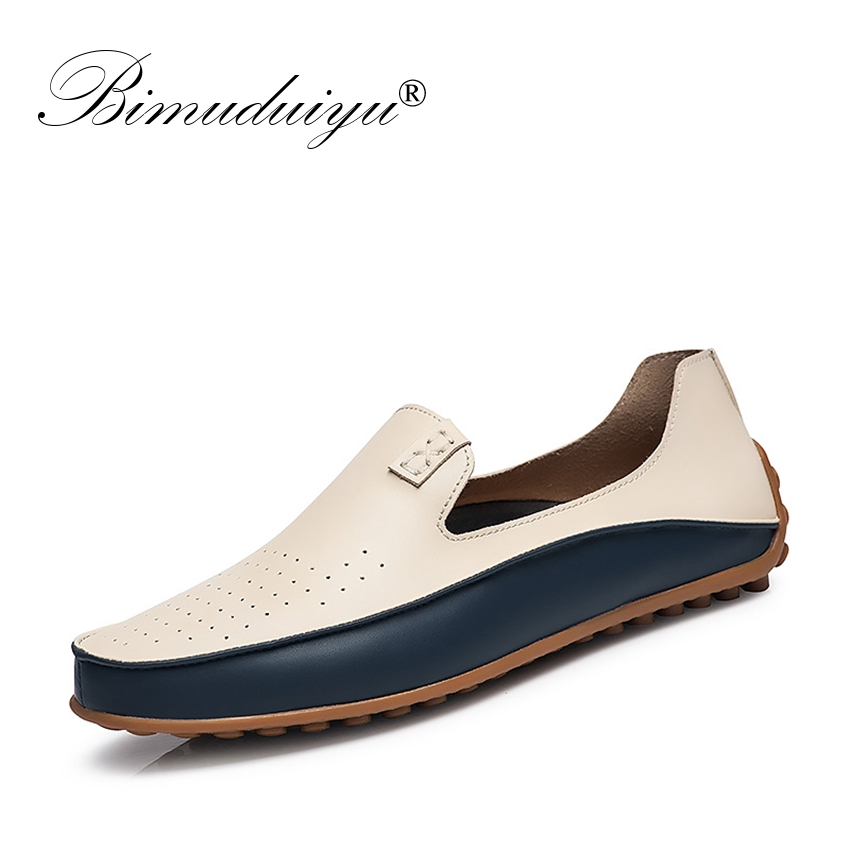 BIMUDUIYU Бренд Summer Causal Shoes Мужчины Loafers - Мужская обувь
