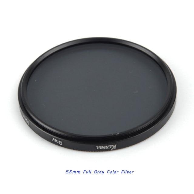 Pixco 58 MM Aksesuar Komple Tam Renkli Özel Filtre dijital kamera Lens Gri