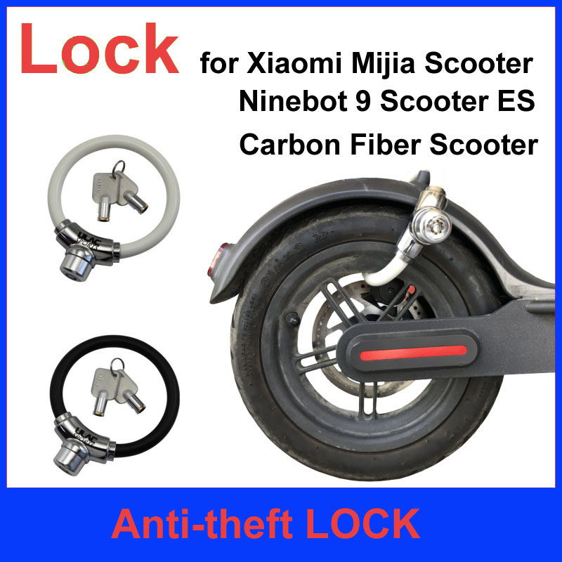 Xiaomi Electric Scooter O Lock Electric Skateboard Anti theft Lock Carbon Fiber Scooter Lock For