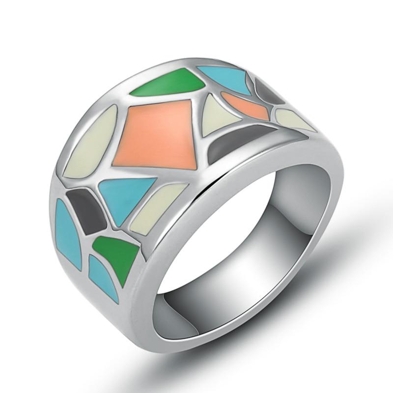 50 Enamel 8mm wide  Wholesale  Rings Anniversary Men/'s Stainless Steel ring