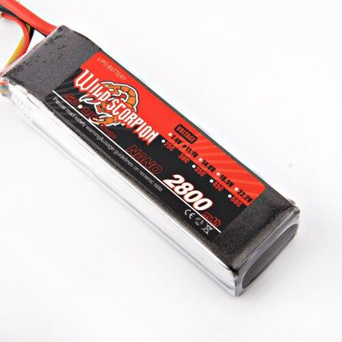 1pcs Wild scorpion Lipo font b Battery b font 11 1V 2800MAH 30C high quality font