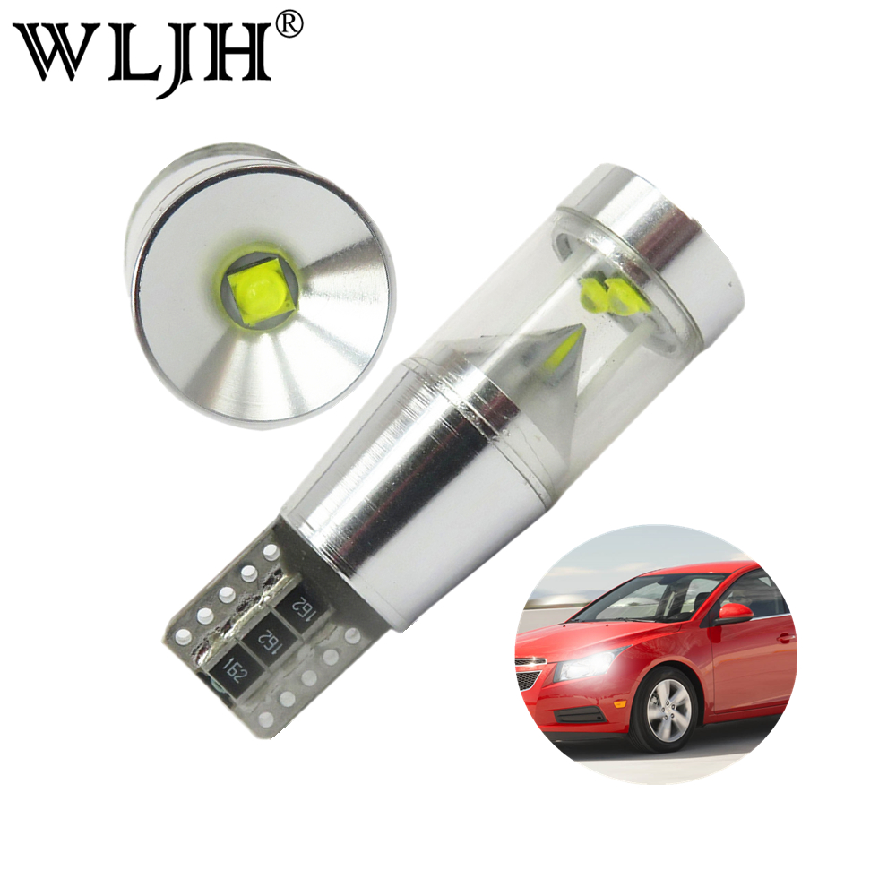 WLJH 2x Canbus LED T10 Car Light License Plate Parking Clearance Lamp For VW Passat B5 B6 T4 T5 Tiguan Touran Golf 4 5 7 6 Polo high quality plastic and led bulbs 2pcs white error free 18 led license plate light lamp kit for vw golf eos passat polo phaeton