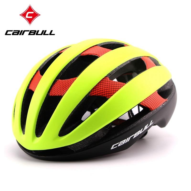 ФОТО CAIRBULL Sport Bicycle Helmets Men Women Ultralight Unisex Breathable Mountain Road Bike Helmet Carbon Cycling Helmet Size M