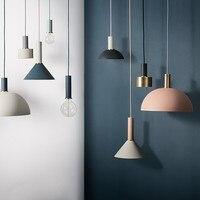EHOME Nordic Simple Bar Hanging Lamp Colored Pendant Light Restaurant Bedroom Bedside Lights Modern DIYart And