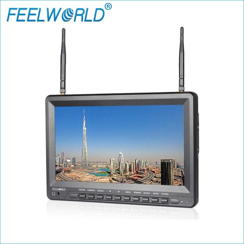 Feelworld FPV1032 10.1 pouce IPS FPV Moniteur avec Batterie Intégrée Double 5.8g 32CH Diversité Récepteur 1024x600 Sans Fil moniteurs