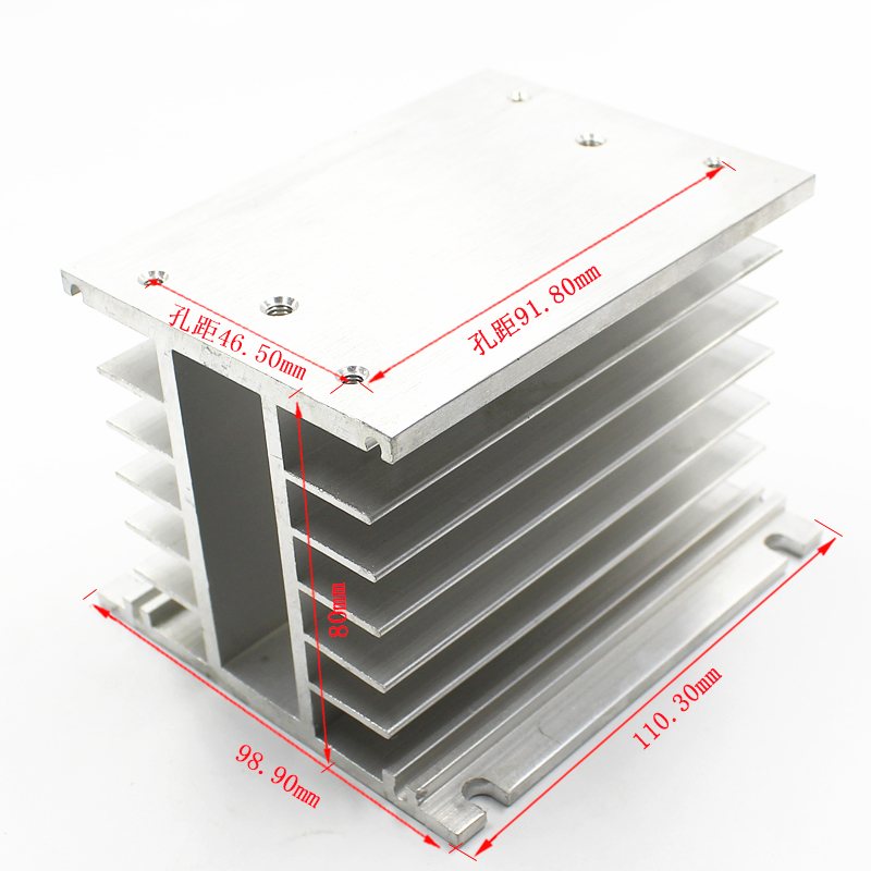 цена на 3 Phase Heat Sink 80*110*100mm for SSR Solid State Relay Aluminum Heatsink