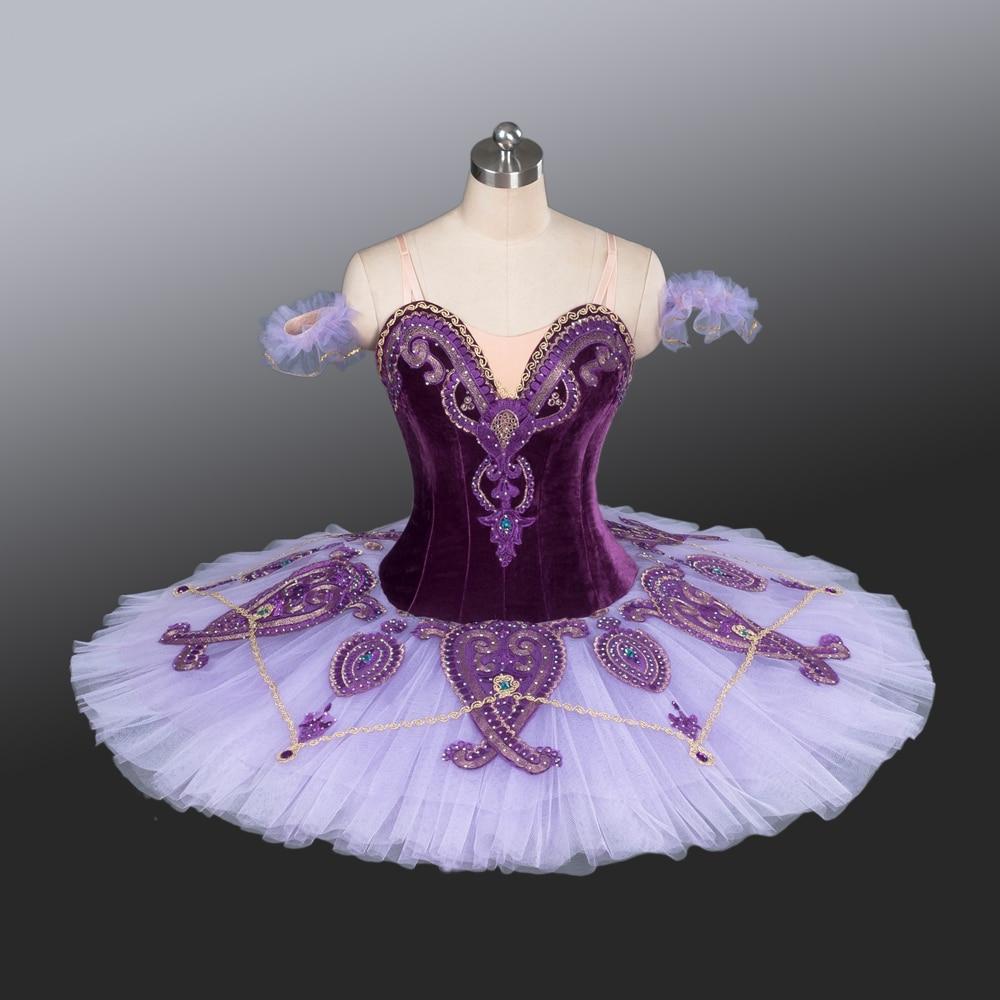 2016 Nouvelle Collection Adulte/Filles Tutus Velours Organes Violet en Scène Professionnel Pour la Performance de Ballet Et Concurrence AT1221