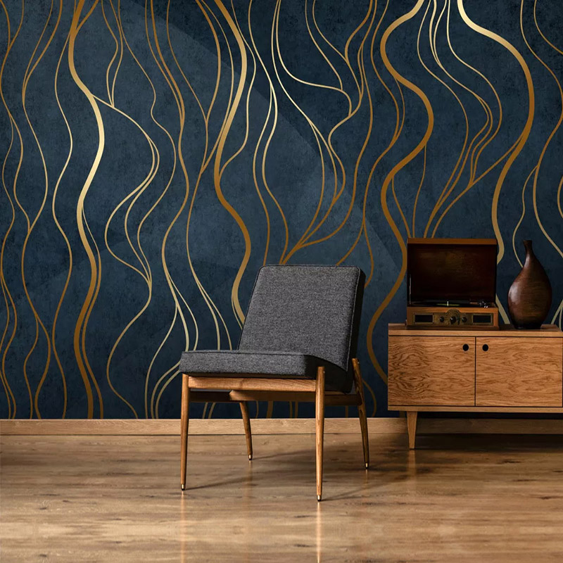Custom Mural Wallpaper 3D Personality Abstract Geometry Line Wall Painting Living Room TV Study Luxury Mural Papel De Parede 3 D