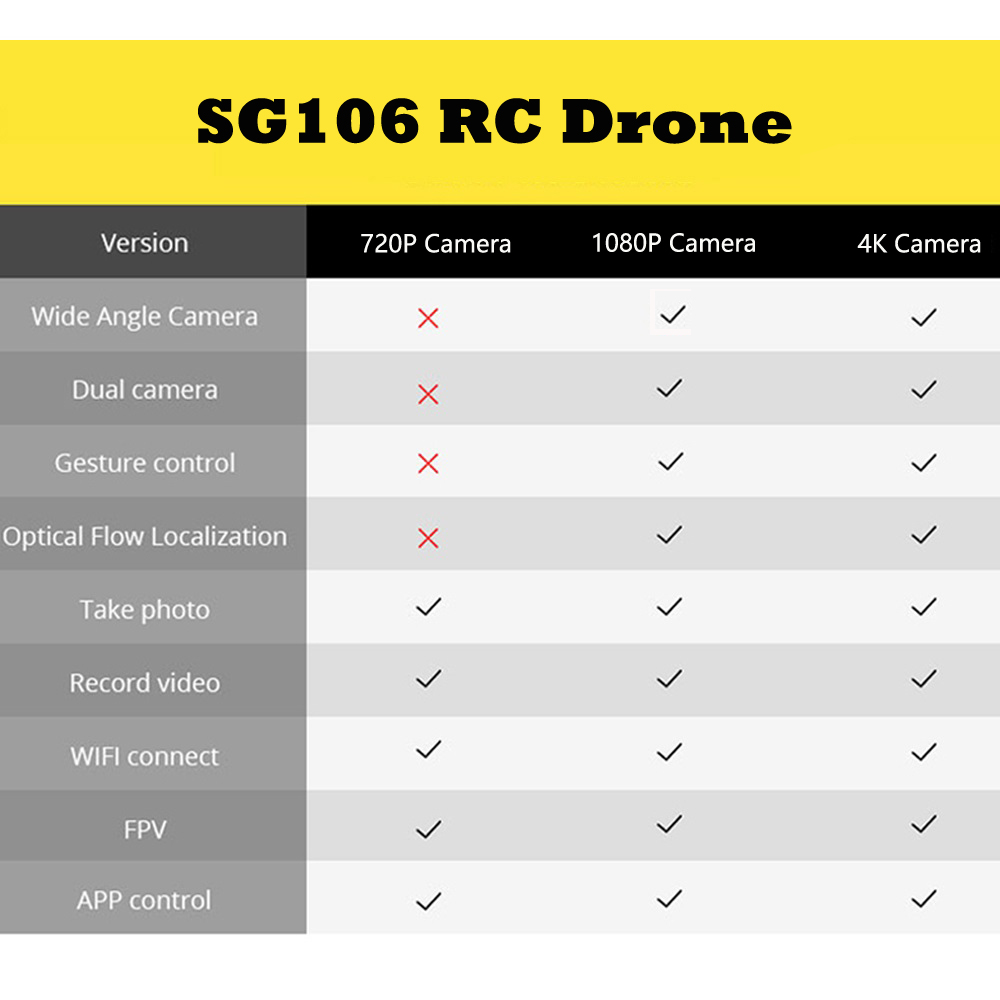 Image 5 - SG106 WiFi FPV RC Drone 4K Camera Optical Flow 1080P HD Dual Camera Aerial Video RC Quadcopter Aircraft Quadrocopter Toys Kid-in RC Helicopters from Toys & Hobbies