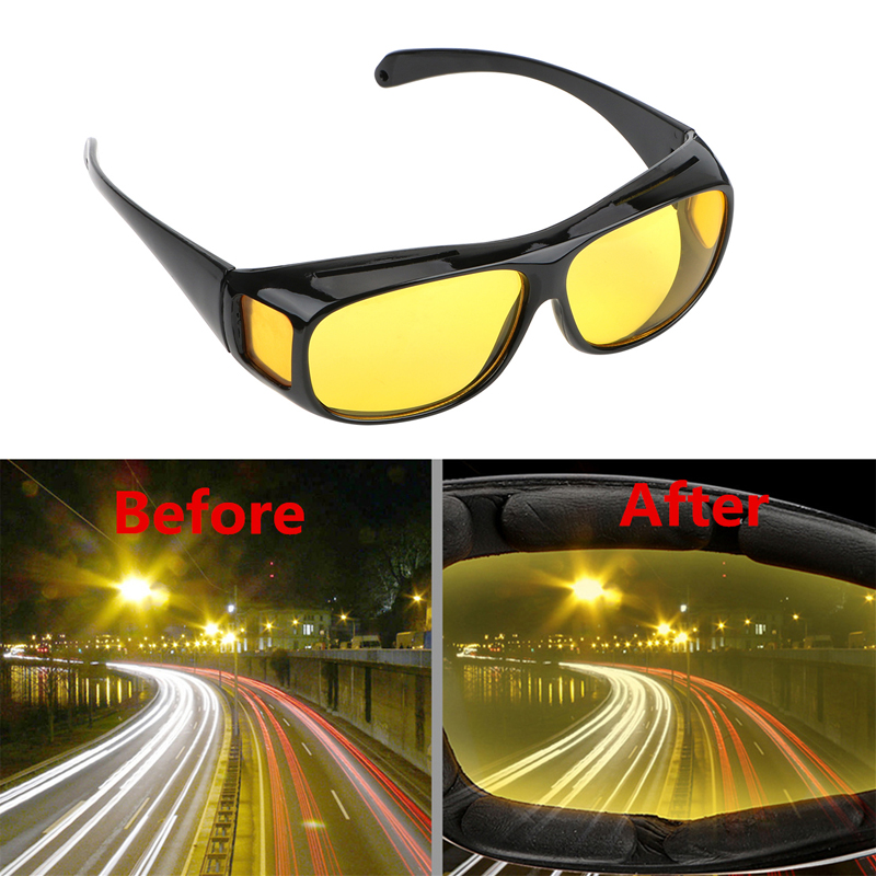 Car Night Vision Goggles Polarized Sunglasses Vision For Lada Granta Vaz Kalina Priora Niva Samara 2 2110 Largus 2109 2107-in Car Stickers from Automobiles & Motorcycles