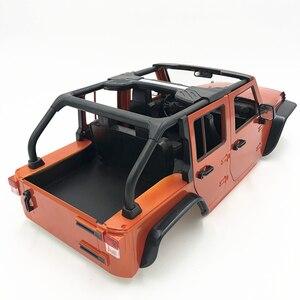 Image 4 - Desmontado 12.3 polegada 313 mm wheelbase corpo carro escudo atualizar conversível para 1/10 rc 5 door jeep wrangler axial scx10ii 90046