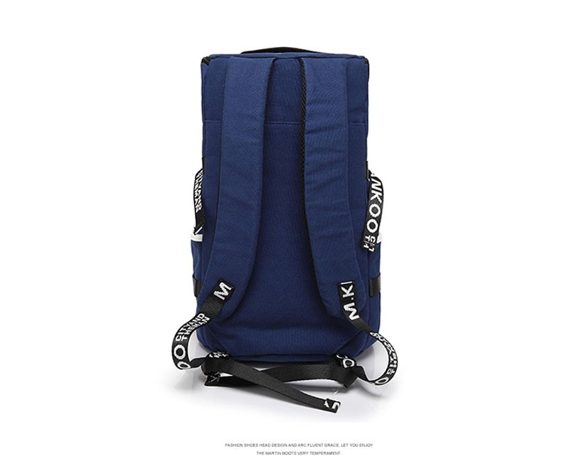 Men's Multi-Functional Backpack Vintage Shoulder Bag High Quality Canvas Male Bagpack Rucksack Travel Luggage for Weekend 13