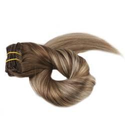 Полный блеск Полный начальник Ролик в Реми Пряди человеческих волос для наращивания Ombre Цвет 6 потертостями до 22 и 6 10 шт. 100 г выметания клип