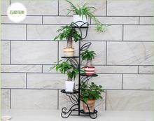 Flower multilayer european-style balcony ground flowerpot shelf indoor money plant bracketplant sitting room цены